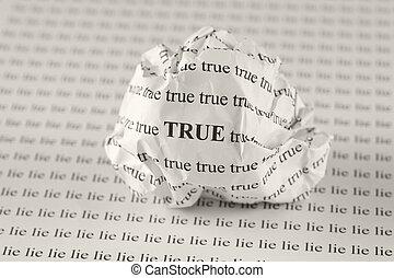 eller, lögn, sann