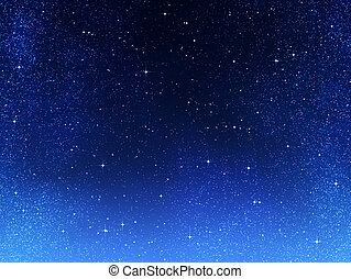 eller, natt, utrymme, sky, stjärnor