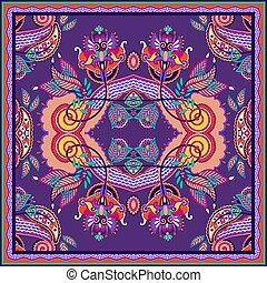 eller, stil, design, scarf, hals, mönster, ukrainsk, silke, ...
