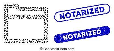 Ellipse Collage Folder with Textured Notarized Seals