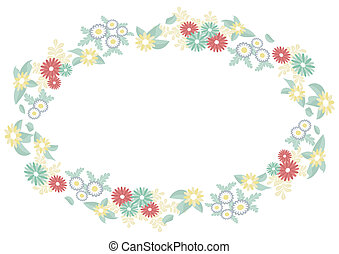 ellipse frame of flowers