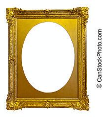 ellipse gold picture frame