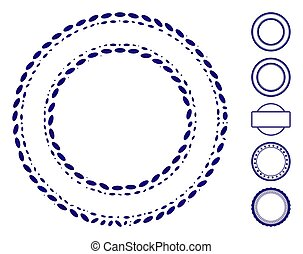 Ellipse Mosaic Double Circle Frame