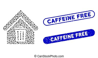 Ellipse Mosaic Trash House with Distress Caffeine Free Stamps