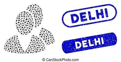 Ellipse Mosaic Users with Distress Delhi Seals