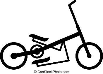 Elliptical bike, shade picture