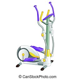 Elliptical machine gym isolated on white background. Vector illustration