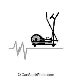 elliptical machine gym sport icon design