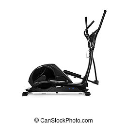 Elliptical trainer or orbitrack isolated on a white...