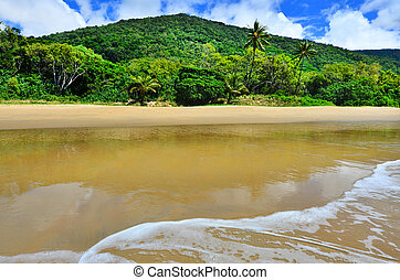 Ellis beach in Cairns Queensland Australia - Landscape of...