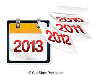 ellos, vuelo, paages, calendario, años