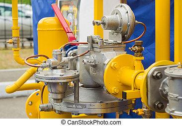 gas pressure regulator - ellow gas pressure regulator with a...