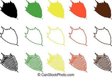 elm leaf color set