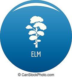 Elm tree icon blue vector