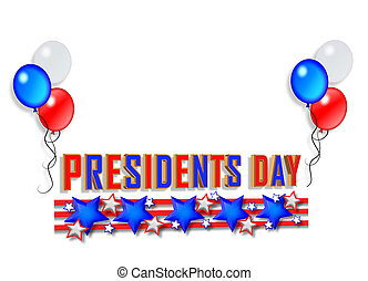 elnök nap, határ, grafikus