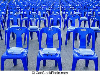elnökké választ, hab, doboz, kék, műanyag