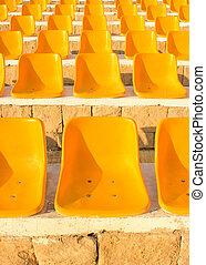 elnökké választ, nap, light., stadion, sárga