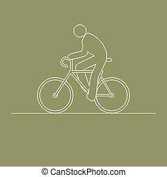 elnyomott bicikli