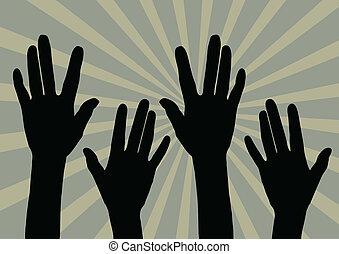 elogio, mão