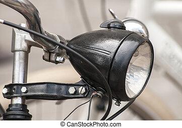első lámpa, bicikli, retro