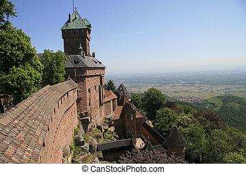 elsaß, haut-koenigsbourg, hofburg, frankreich
