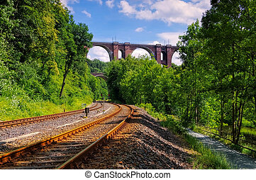 Elster Viaduct, railway bridge in Saxony, Germany