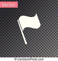 elszigetelt, ábra, háttér., lobogó, vektor, fehér, áttetsző, ikon