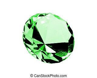 elszigetelt, smaragdzöld