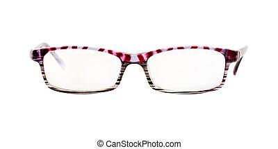 elszigetelt, szemüveg