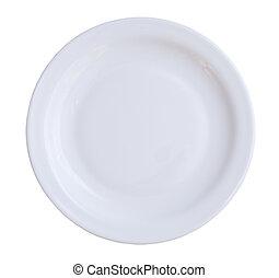 elszigetelt, tányér