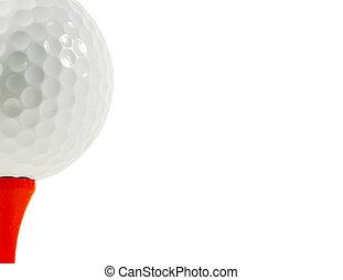 elszigeteltség, labda, golf