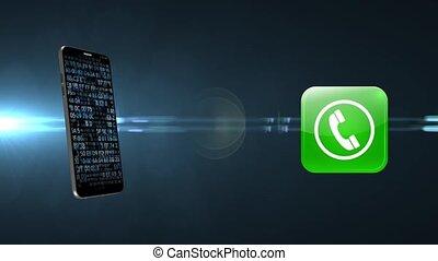 eltart, telefon., beszéd, group., telefon hívás