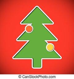 elvág, apróságok, fa, karácsonyi üdvözlőlap, ki