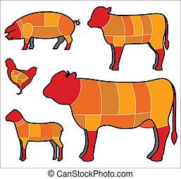 elvág hús