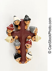 elves carrying the cross