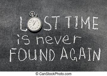 elveszett, idő