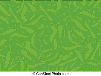 elvont, -, ábra, vektor, zöld háttér