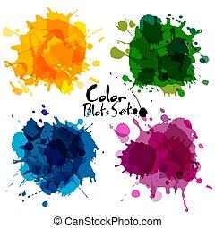 elvont, állhatatos, közül, szín, blots.