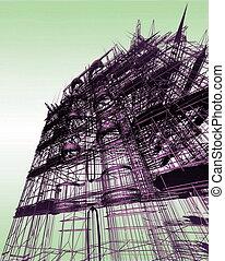 elvont, építészet