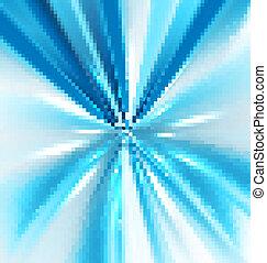 elvont, örvény, világos blue, színes, küllők, vektor, tervezés