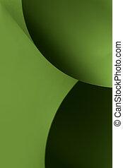 elvont, alakzat, dolgozat, fekete, zöld, kép