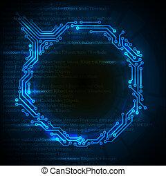 elvont, blue háttér, vektor, műszaki