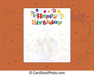 elvont, boldog születésnapot, háttér
