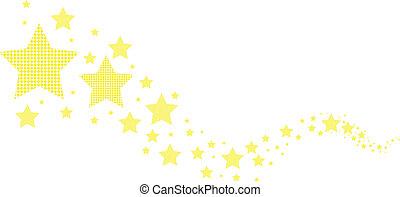 elvont, csillaggal díszít