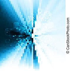 elvont, fényes, színes, kék, örvény, küllők, vektor, tervezés