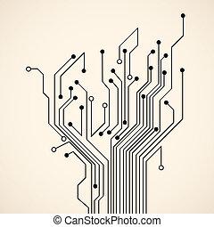 elvont, fa, áramkör