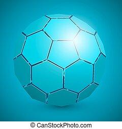 elvont, futball, 3, labda, kék