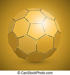 elvont, futball, 3, labda, sárga