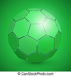 elvont, futball, 3, labda, zöld
