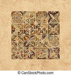 elvont, geometriai, -e, tervezés, motívum